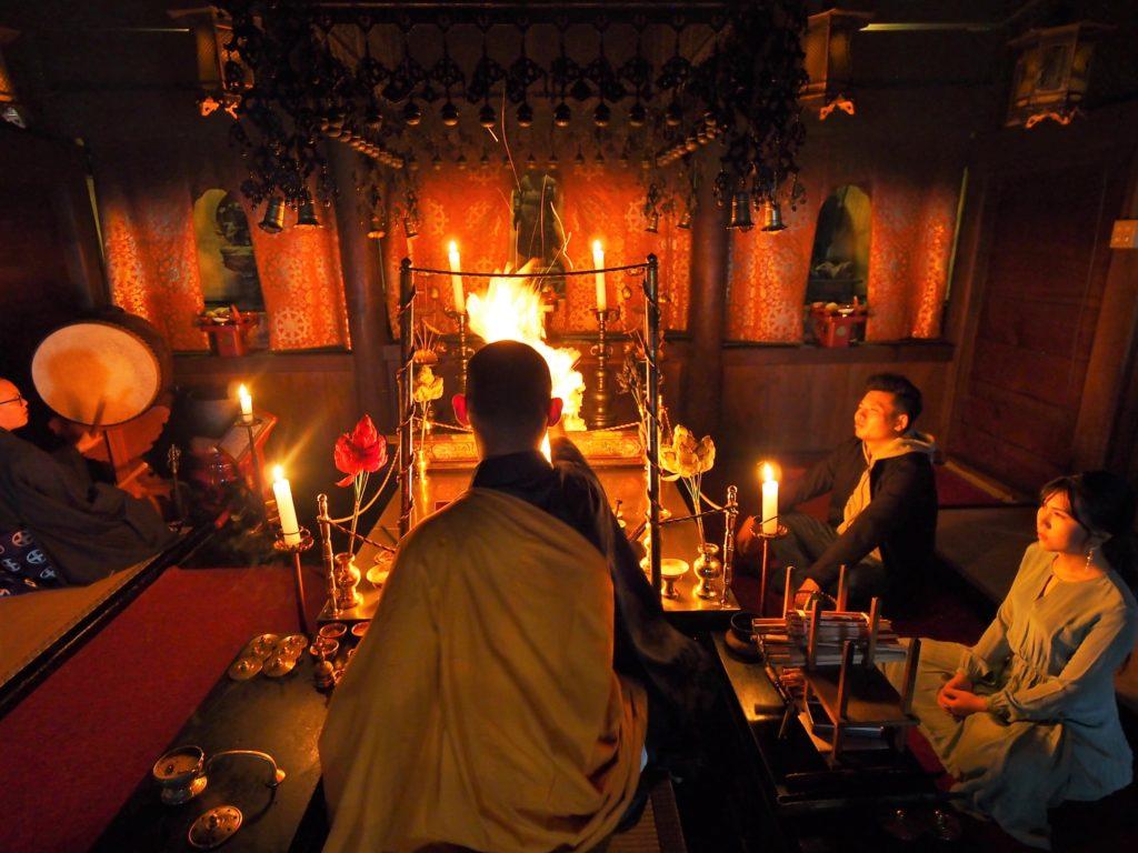 炎の秘法:護摩祈祷と豪華精進料理